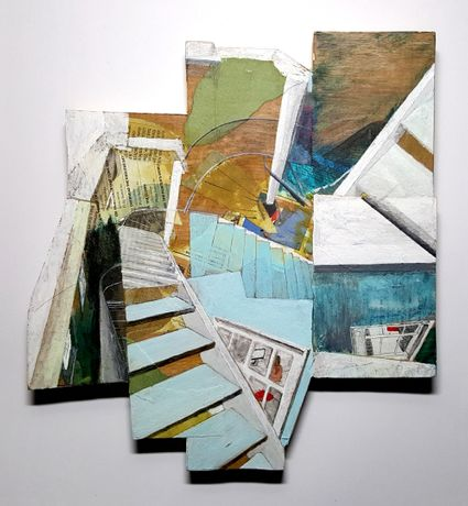 Dave Nelson: Sackler Staircase, Royal Academy mixed media on marine plywood 30 x 28 x 2cm