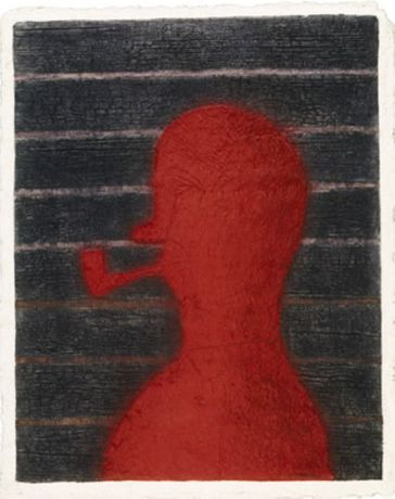 Rufino Tamayo, Hombre Con Pipa, 1979 © 2019 Tamayo Heirs / Mexico / Licensed by   VAGA at Artists Rights Society (ARS), NY