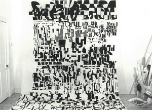 Dinah Prentice, Documentation of A4 (1978) in the studio, Research and Cultural Collections, Image courtesy of the artist