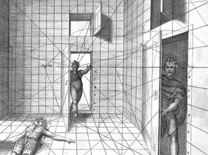 The technique of drawing in perspective, Hans Vredeman de Vries, 1650 available in PIBAPix