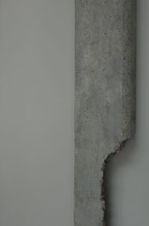 Deposition (Robin Hood Gardens) - detail showing 3D acrylic facsimile of concrete