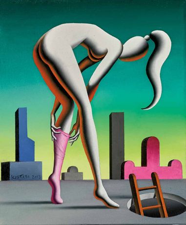 Mark Kostabi, Self Transformation, oil on canvas, 12 x 10 inches