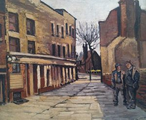 Cable Street, Courtesy the artist's family © A.E.Turpin Estate, 2017