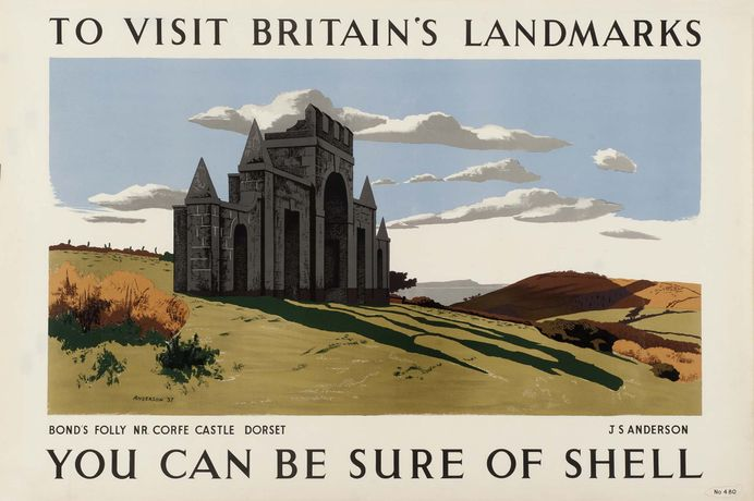 Bond's Folly Dorset, JS Anderson, 1937. Courtesy of the Shell Heritage Art Collection