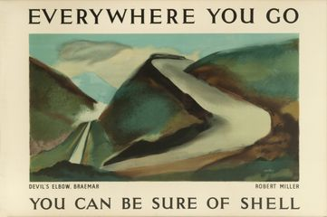 Devil's Elbow Braemar, Robert Miller, 1936. Courtesy of the Shell Heritage Art Collection