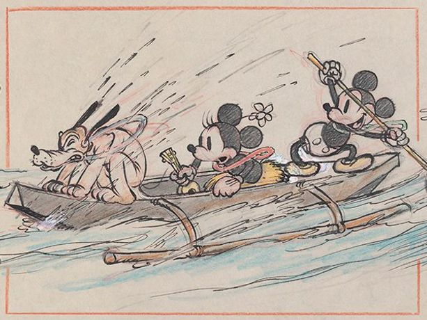Hawaiian Holiday, 1937, Concept art, Disney Studio Artist ©Disney