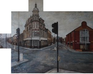 The Boston Tufnell Park  Oil on linen 151.5 x 117.5 cm 2012
