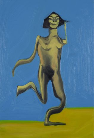 Dan Coombs 'Nude' Oil on canvas.