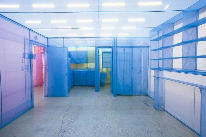 Do Ho Suh, Apartment A, Unit 2, Corridor and Staircase, 348 West 22nd Street, New York, NY 10011, USA (detail), 2011–14, installation view, Museum of Contemporary Art San Diego, 2016, © Do Ho Suh, photo courtesy the artist and Lehmann Maupin, New York and Hong Kong, by Pablo Mason