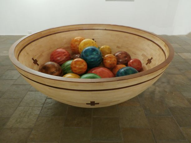 A BOWL OF MARBLES