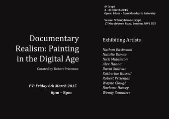 Documentary Realism:Painting in the Digital Age