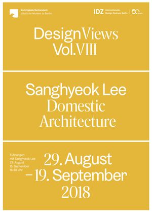 Domestic Architecture Flyer Front