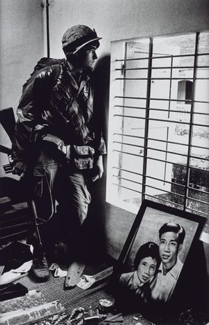 Don McCullin, The Battle for the City of Hue, South Vietnam, US Marine Inside Civilian House 1968, printed 2013. Tate / National Galleries of Scotland. © Don McCullin