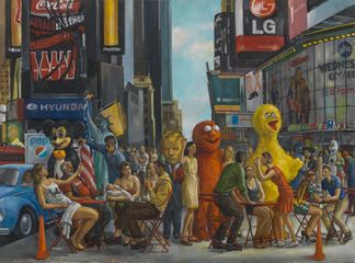 "Time Square 3  2015  oil on canvas  31"" x 42"""