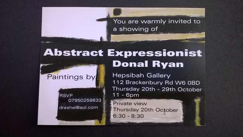 Donal Ryan - Abstract Expressionist: Image 4