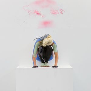 Donna Huanca, Muscle Memory. Performance view, June 27–August 8, 2015. Peres Projects, Berlin.