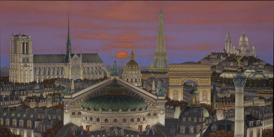 Liudmila Kondakova, Concert on the Roof, limited-edition print, 24 x 48 inches