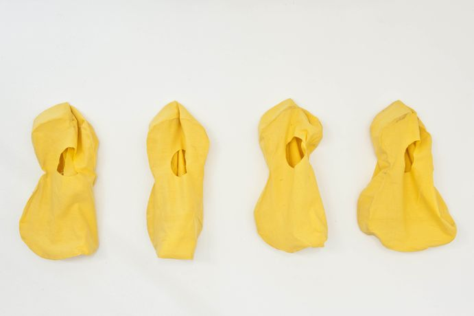 Dora Economou, Little guitars, 2015, fabric, variable dimensions