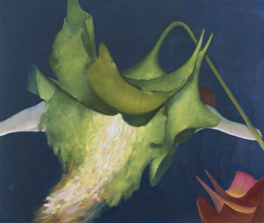 Victrola floribunda, 1997, oil on canvas, Copyright The Destina Foundation, New York; Courtesy Alison Jacques Gallery, London