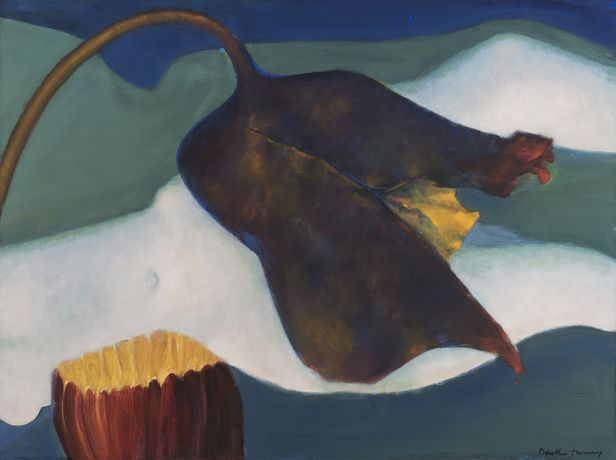 Agripedium vorax Saccherii (Clog Herb), 1997, oil on canvas, Copyright The Destina Foundation, New York