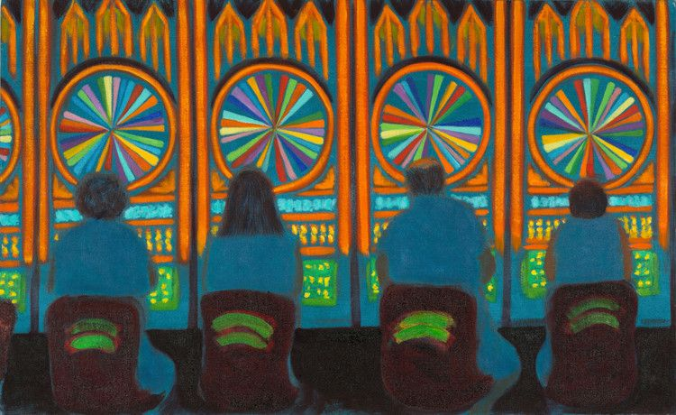 Jane Dickson, LV56 (Wheel of Fortune), 2011, Oil on canvas, 30 x 50 inches