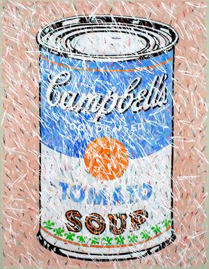 Doug Argue. Tomato Soup 2018 Oil on Canvas 58 x 45 in (147.3 x 114.3cm)