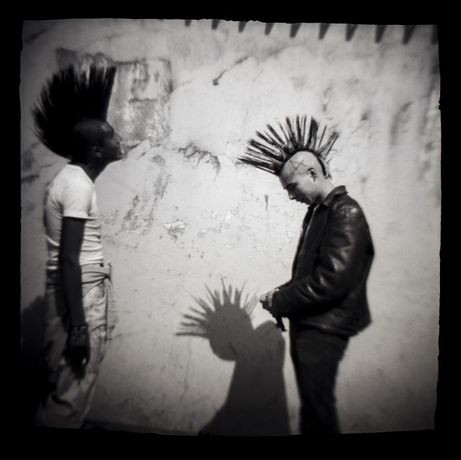 Carlos Somonte, Untitled (Punks), Black and white print, 1987