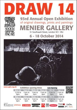 DRAW 14 - 93rd Annual Open Exhibition of the Society of Graphic Fine Art - The Drawing Society: Image 0