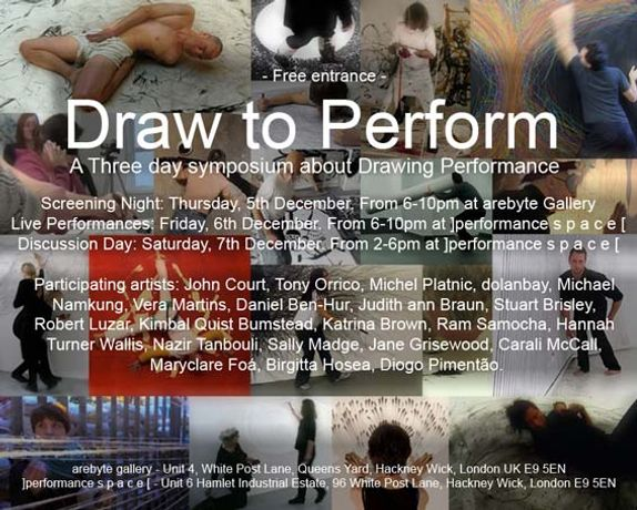 Draw to Perform  —  A Three day symposium about Drawing Performance: Image 0
