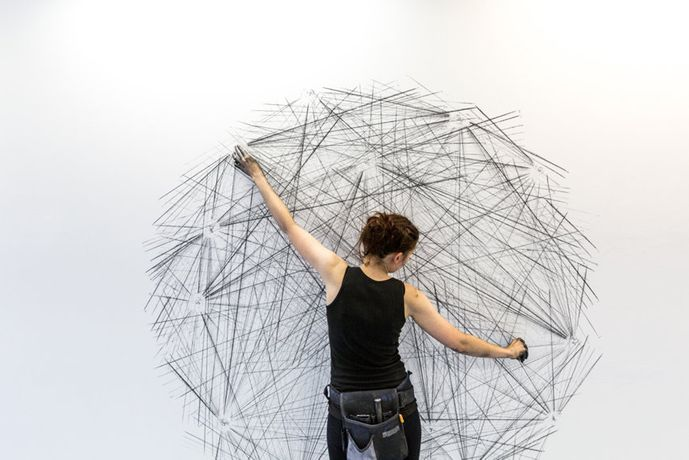 Rachel Grant, Draw the Line, 2013, photo by Sid Scott