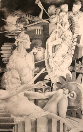 In Heaven - drawing by Colin Challen