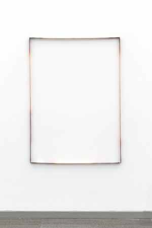 Nina Canell, Free-Space Path Loss, 2014, Copper, heat, 117 x 85 x 2.5 cm