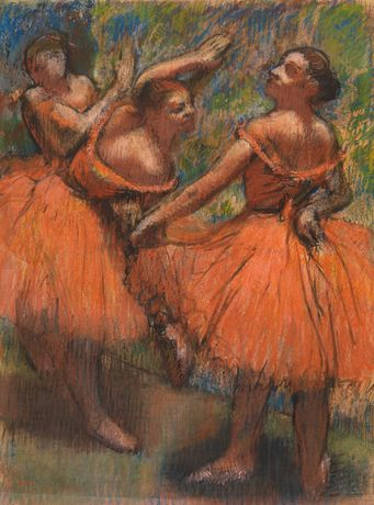 Hilaire-Germain-Edgar Degas, 'The Red Ballet Skirts', about 1900, The Burrell Collection © CSG CIC Glasgow Museums Collection