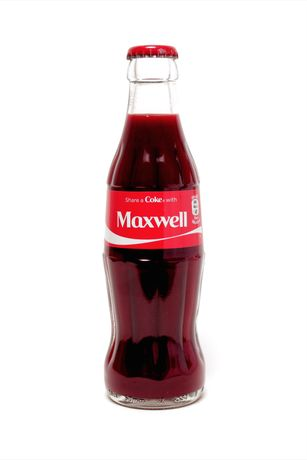 Maxwell Rushton, Share A Coke With Maxwell, 2014, Glass Coke bottle filled with artist's blood