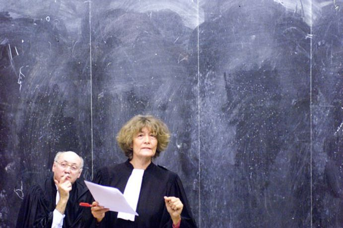 Patrick Bernier & Olive Martin : « X. versus the administrative court of… ; The Case for a Legal Precedent », 2007 (Performance), Foto : Marc Domage