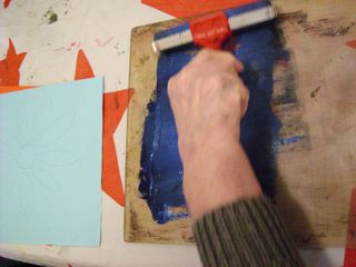 Printmaking in action