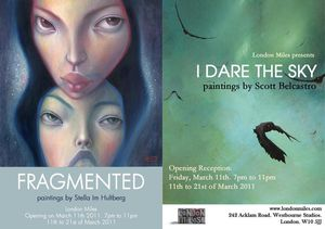 Dual Solo Show at London Miles - Stella Im Hultberg presents Fragmented and Scott belcastro presents I dare the sky