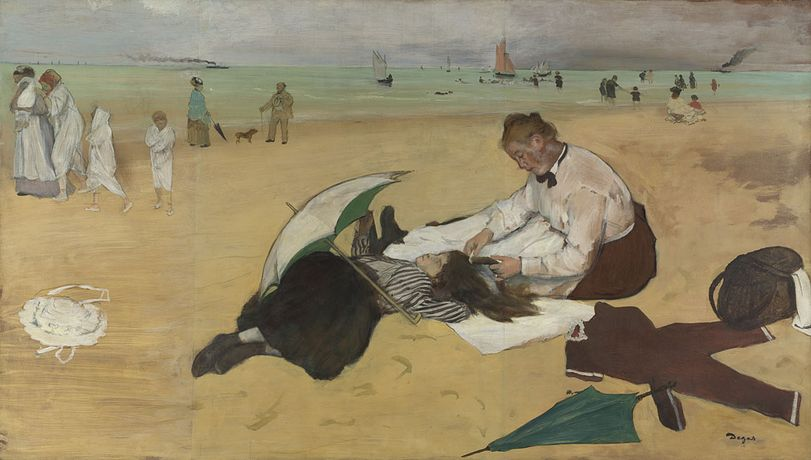 Hilaire-Germain-Edgar Degas, Beach Scene, about 1869–70, The National Gallery, London