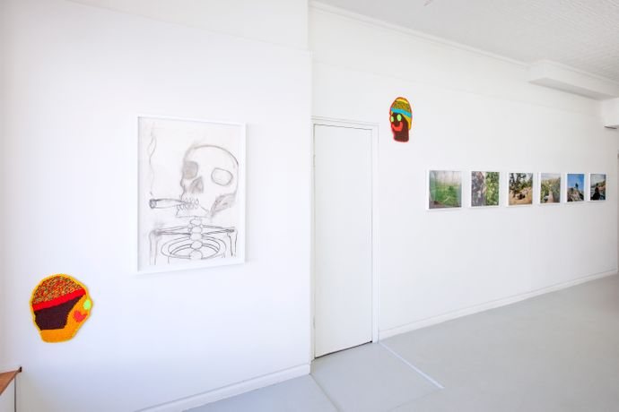 Installation view of Dutch Masters, (pictured left to right) Caroline Wells Chandler, Chris Martin and Maureen Drennan