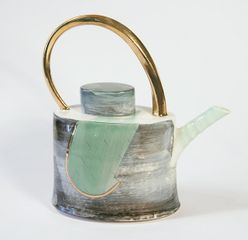 Pot with Golden Lustre by Tricia Thom