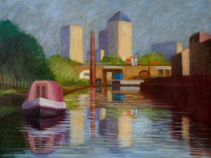 Noriko Michigami: Looking towards Limehouse Basin, 2014