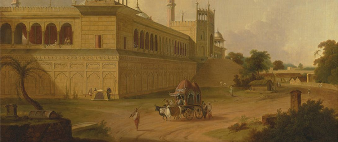 Detail from Thomas Daniell, 'Jami Masjid, Delhi', 1811 © Yale Center for British Art, Paul Mellon Collection
