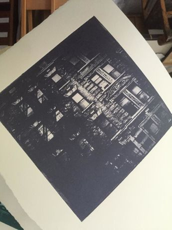 Waverly Place NYC ( Special Variable Edition -Photopolymer Etching) by Jane Beecham