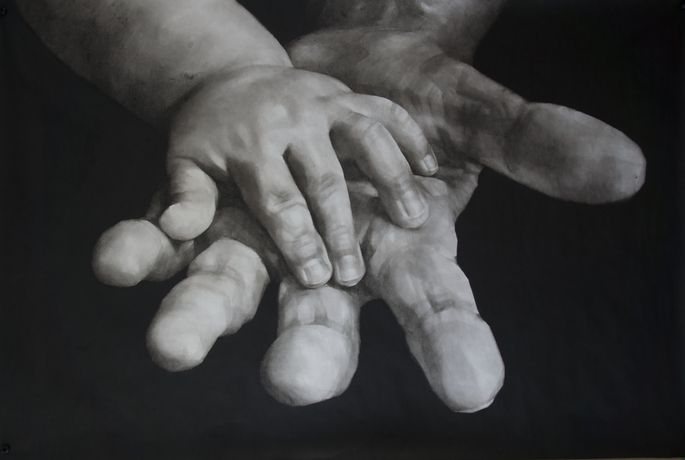 Qu Leilei. The Future Remains in Our Own Hands. Image courtesy of the artist and 3812 Gallery.