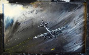 Lucio Forte, Boeing B17-E, mixed media on wood
