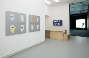 Ed Fornieles, The Finiliar, 2017, Installation View