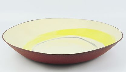 Silvia K, medium glazed terracotta bowl, W 40 cm H 7 cm