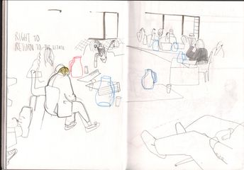 The Public Inquiry into the Aylesbury Compulsory Purchase Order (2015), reportage drawings by Judit Ferencz