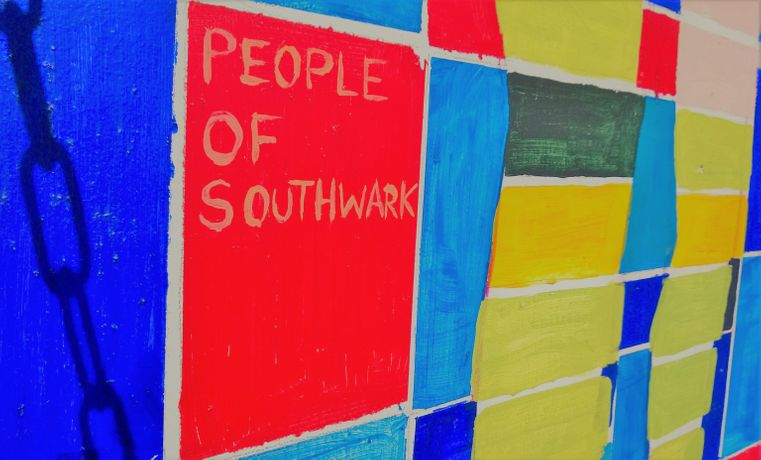 People of Southwark, Mural, Artworks London, Stephen Pritchard (2016)