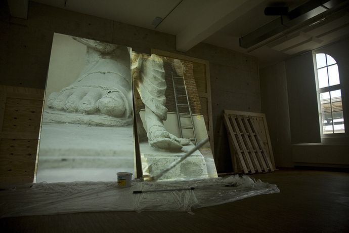 Bani Abidi, Death at a 30 Degree Angle, 2012. Installation view, Documenta 13. Courtesy of the artist.